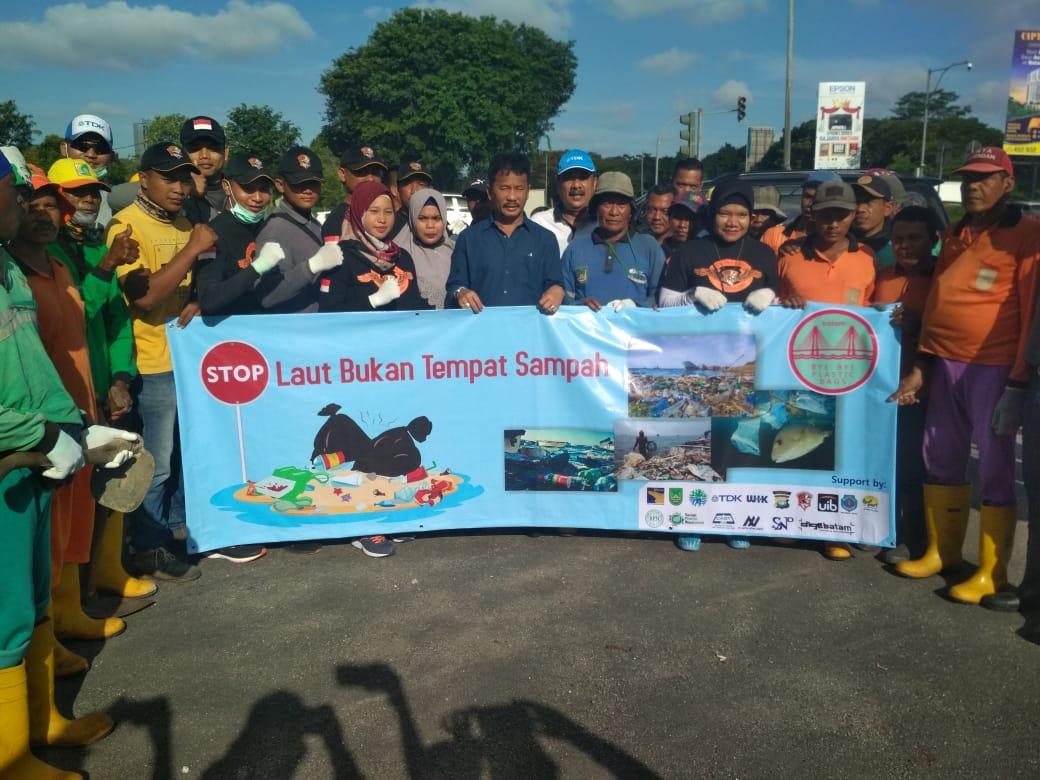 Ratusan Anggota Satpam PTP Ikuti Aksi Gotong Royong Membersihkan Sampah dalam HPSN 2020