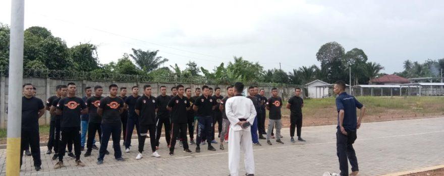 Satpam PTP di Bekali dengan Taekwondo