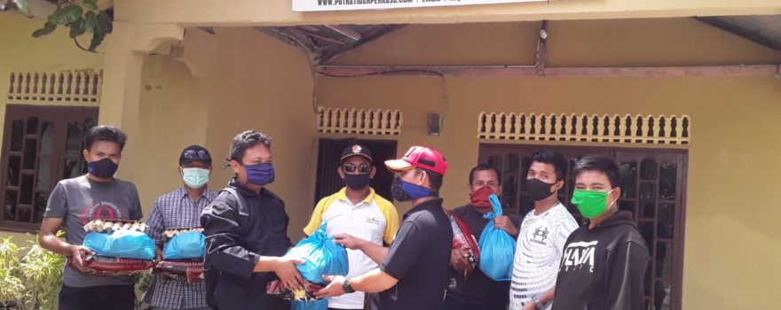 Penyerahan Sembako kepada personil Satpam PTP Bintan yang terkena dampak Covid-19 - 1