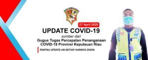 UPDATE! Corona 27 April 2020 di KEPRI: Tidak ada Penambahan Covid-19, PDP Masih Bertambah