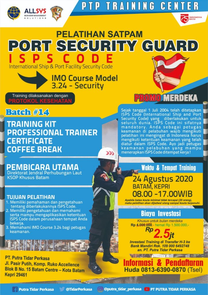 ISPS Code Training for Security - Putra Tidar Perkasa