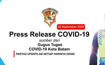 Press Release Gugus Tugas COVID-19 Kota Batam - 22 September 2020