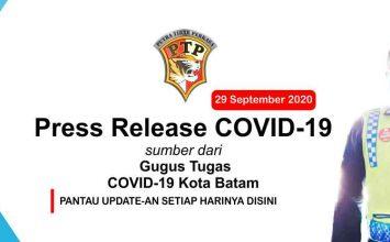 Press Release Gugus Tugas COVID-19 Kota Batam - 29 September 2020
