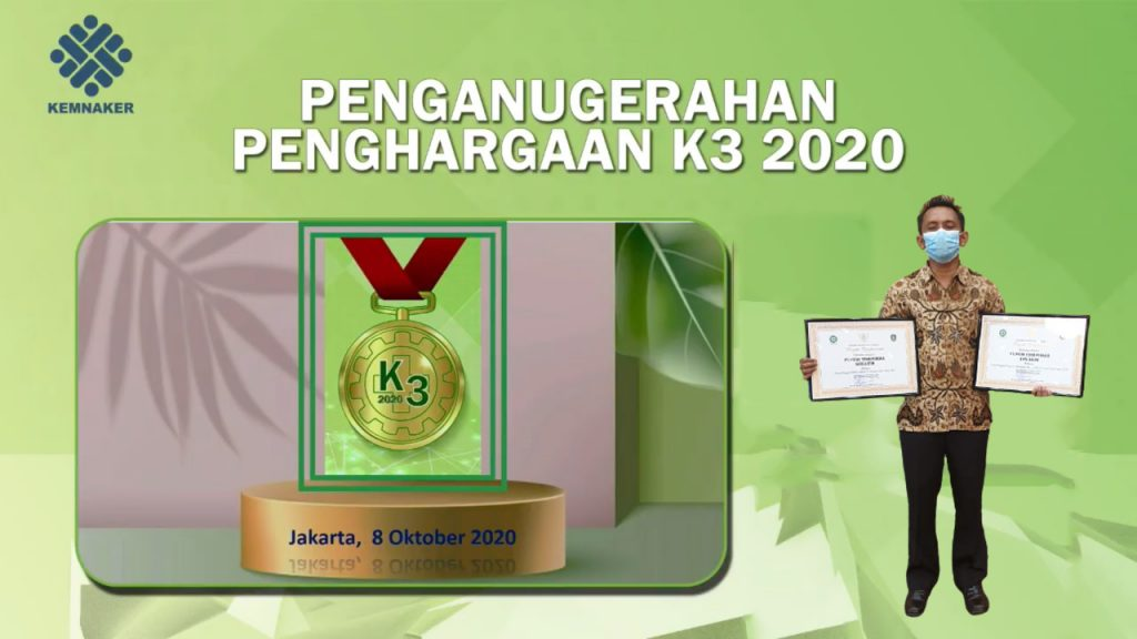 Penghargaan K3 Nasional - PT Putra Tidar Perkasa