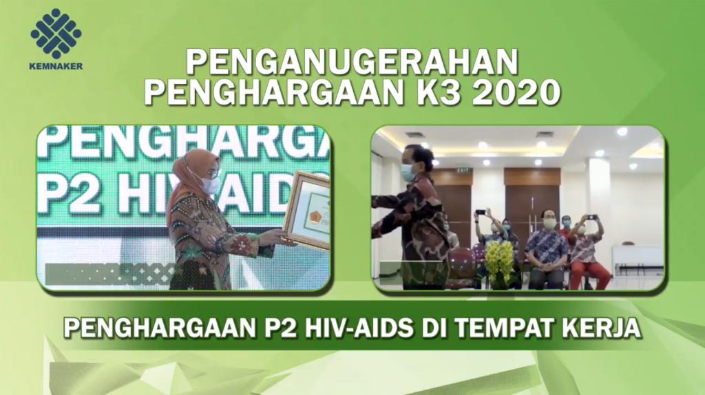 Penghargaan P2 HIV AIDS - Kemnaker RI