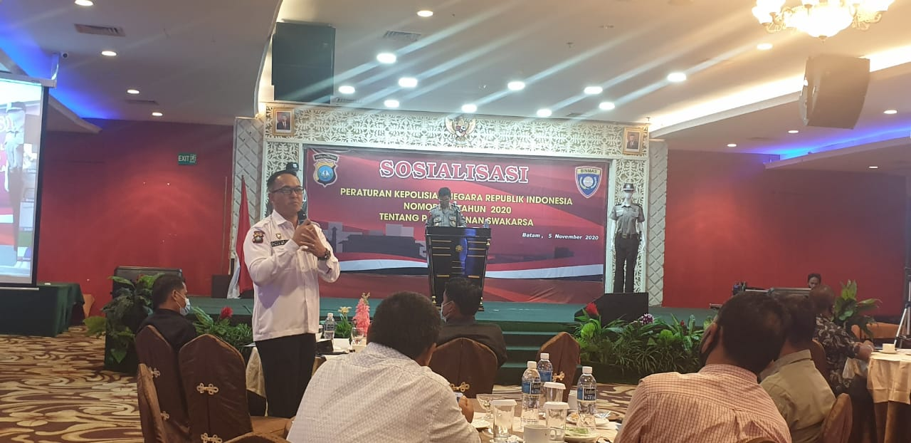 You are currently viewing PTP Ikuti Sosialisasi Perpol Pam Swakarsa Bersama Binmas Polda Kepri