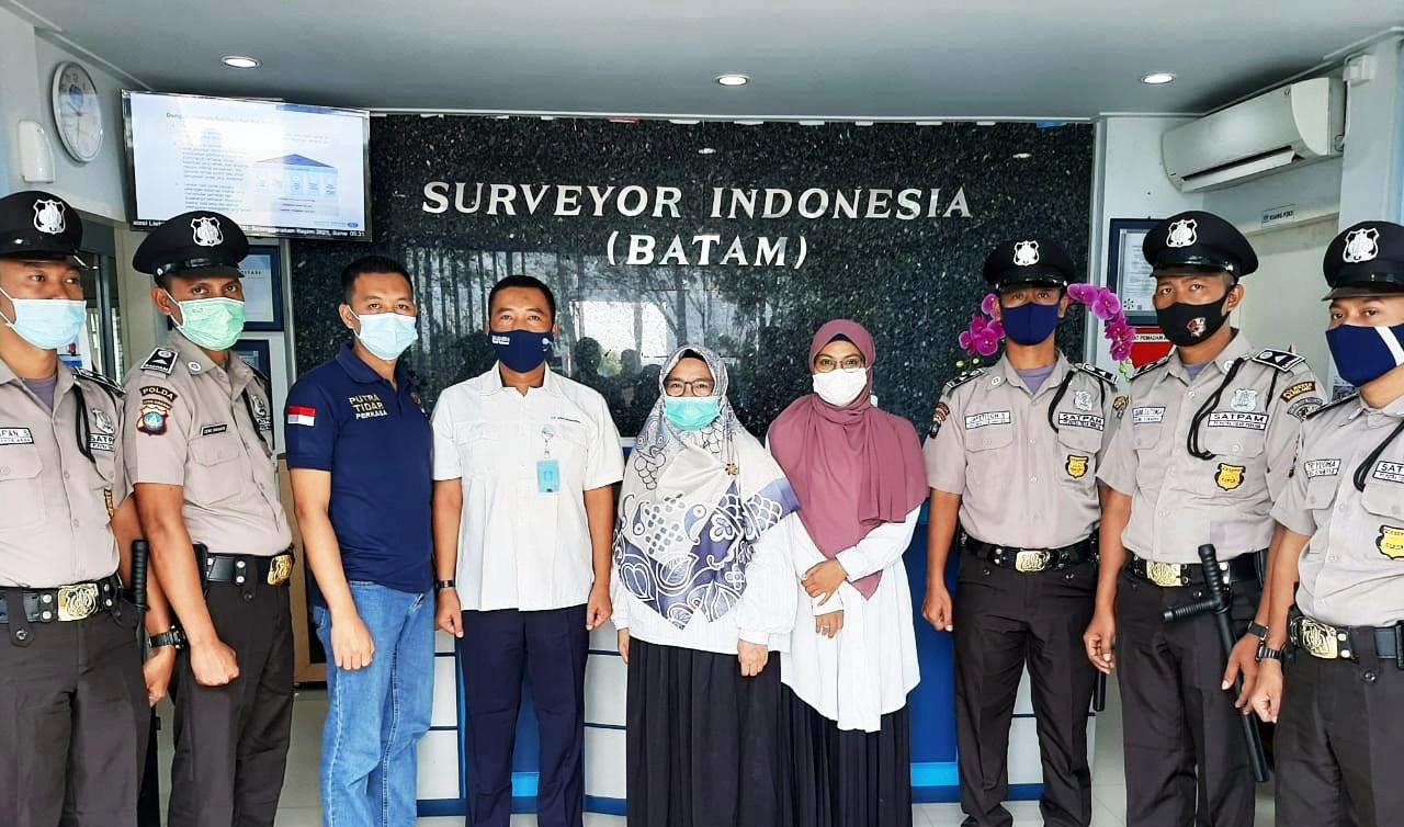 Surveyor Indonesia (Persero) cabang Batam Percayakan Keamanan Perusahaannya Kepada PTP