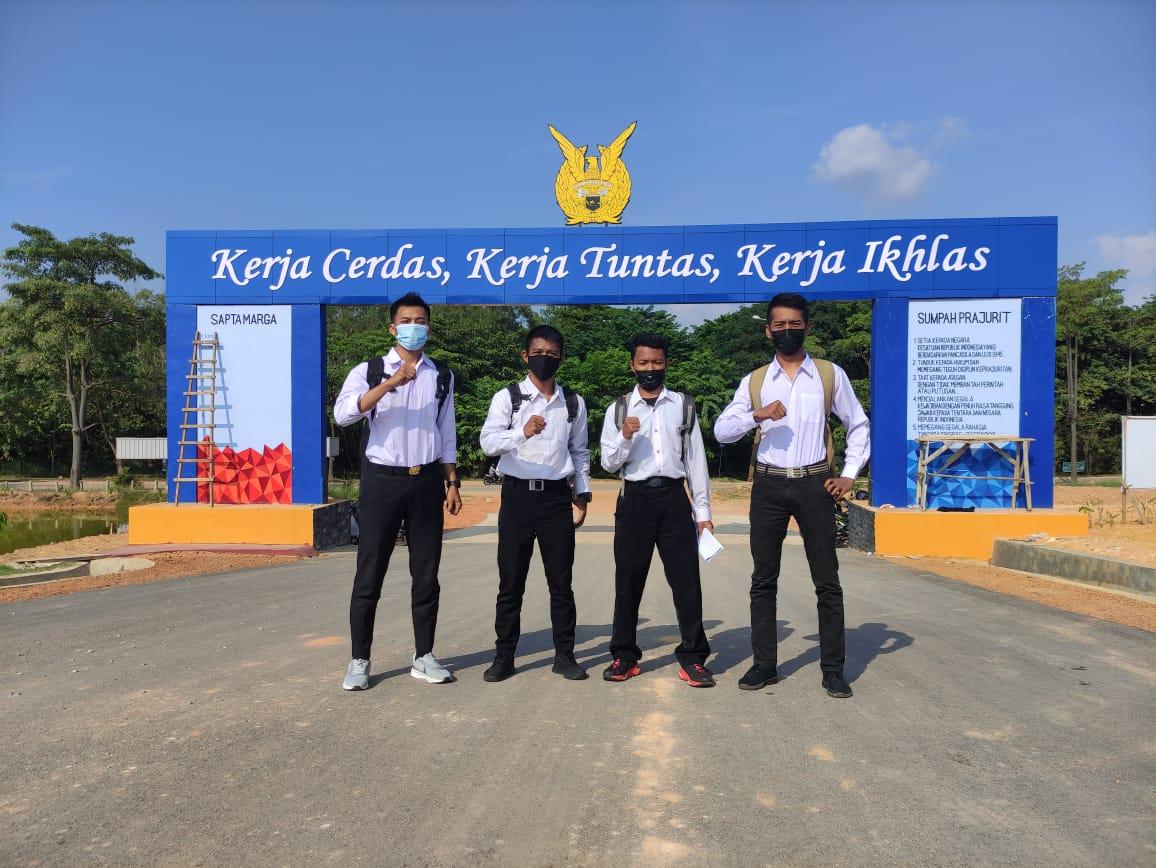 Kirimkan 5 Personel Satpam PTP, Pada Daftar Ulang Penerimaan Casis Tamtama TNI AU Lanud Hang Nadim