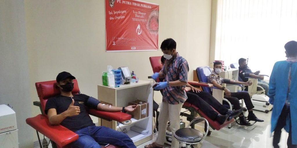 Donor Darah di PMI Kota Batam -  Satpam PTP (1)