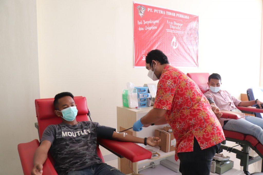 Donor Darah di PMI Kota Batam - Satpam PTP (2)