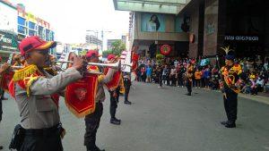 Read more about the article Drumband Satpam Canka Putra Perkasa, Meriahkan Hari Jadi Nagoya Hill Mall ke 15